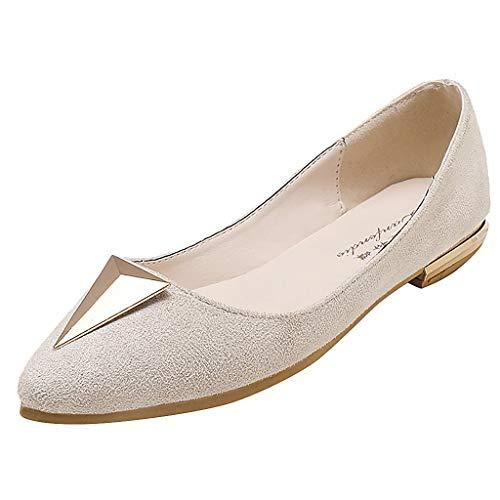 HuaMore Sandali Estivi da Donna, Eleganti e comode Scarpe da Lavoro a Fondo Piatto, Mocassini Casual a Punta