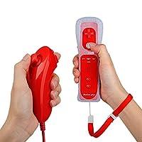Descrizione:Caratteristiche:Cablata Nunchunk + telecomando per Wii, console Wii perfettamenteIl Nunchunk via cavo ha la funzione di puntina e triggerCollegare il controller remoto quando si utilizzaIl telecomando ha la funzione di puntatore, altop...