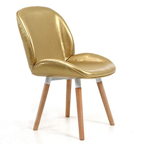 Hohe Dining Chair (Beetle Dining Chair, Einfacher Massivholz-Lounge-Sessel, Hohe Hinterfüllschwammfüllung, Ergonomisches Design, für Restaurant/Büro/Theke/Familie)
