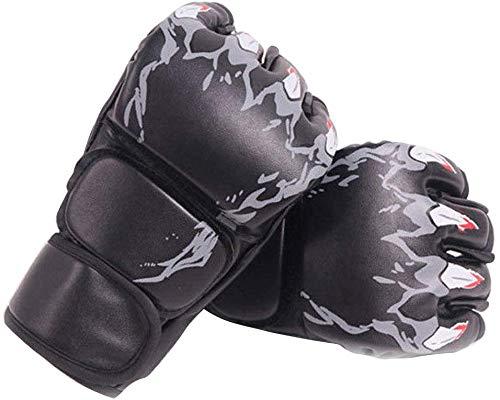 Jullyend Sparring Grappling Boxe Guanti Thai MMA UFC Combattimento Punch Guantoni da Allenamento - Tigre Artiglio Nero, M