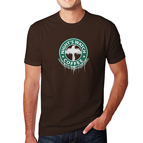Planet Nerd - Night's Watch Coffee - Herren T-Shirt, Größe S, (Ygritte Kostüm)