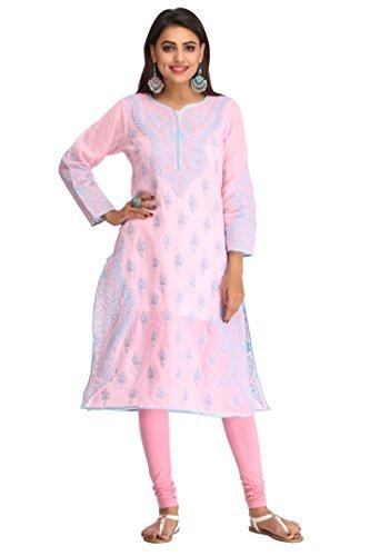 Ada Women's Cotton Pink Kurta (X-Small)