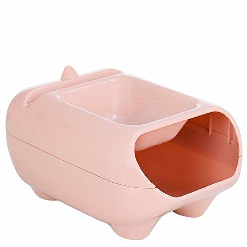 ZPSPZ Küchenregal Doppel - Cd - Box Mit Kreativen Müll Melone Obst Essen Melonenkerne Faul Müll,Pink