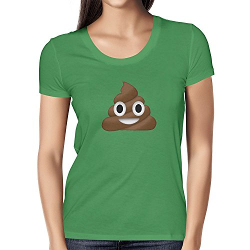 TEXLAB - Poo Emoji - Damen T-Shirt Grün
