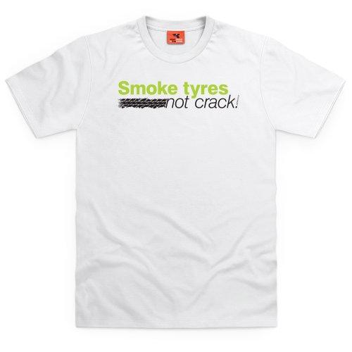 Japfest Smoke Tyres T-Shirt, Herren Wei