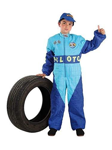 DISBACANAL Disfraz de piloto fórmula 1 - Único, 10 años