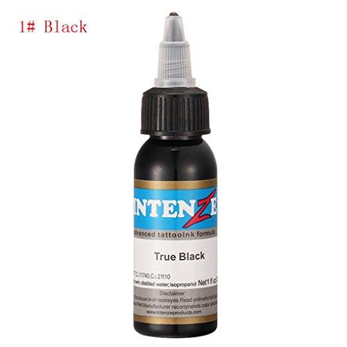Tätowierung Pigment,Chshe 30 ml Professionelle Tattoo - Tinte 14 Farben Setzen 1oz 30 ml / Flasche Pigment - Tattoo (Schwarz)