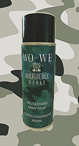 SPRAYDOSE SPRÜHLACK MILITÄRLACK LACK SRAY DOSE ARMY MILITÄR BUNDESWEHR NATO FAHRZEUG 400ml - GRÜN ähnl. FS (Maske Ranger Grüner)
