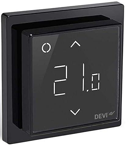 Devireg Smart Schwarz - Thermostat für Fußbodenheizung mit WLAN-Anbindung