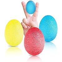 Rovtop Hand Stress Balls for Hand, Finger and Grip Strengthening-Set of 3 Resistance