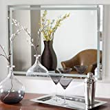 Quality Glass Glass Frameless Decorative Acid Etched Mirror for Wall, for Bathrooms in Home (18 x 24 inch)