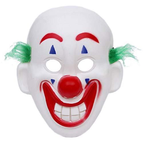 Lim 2019 Joker Maske Arthur Fleck Cosplay DC Film Clown Halloween Kostüm Maske für Party Halloween Fasching Karneval Kostüm Cosplay Dekoration. Karneval Maske
