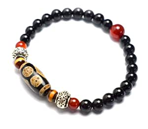 elegante 3 auge dzi beads armband buddhistisches amulett feng shui schmuck schmuck. Black Bedroom Furniture Sets. Home Design Ideas