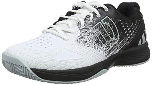 Wilson Kaos Comp 2.0 CC, Scarpe da Tennis Uomo, Bianco/Nero/Blu Chiaro, 45 EU