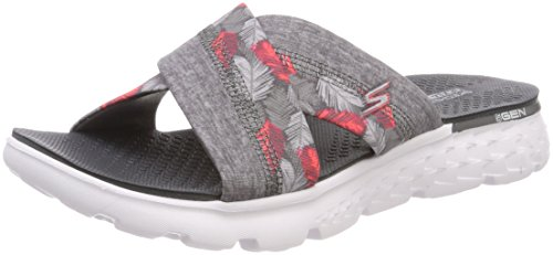 Skechers Damen on-The-Go 400-Tropical Sandalen, Schwarz (Gry), 38 EU (Skechers On The Go)