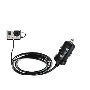 Un Mini Chargeur de Voiture (12-24 V DC) Très Puissant (10W) Compatible Avec le GoPro Hero3, Avec la Fonction Veille