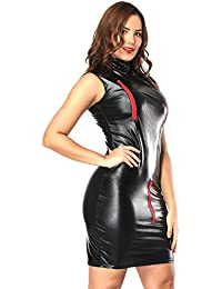Amazon.it  latex - Aderente   Vestiti   Donna  Abbigliamento f0f812cb046