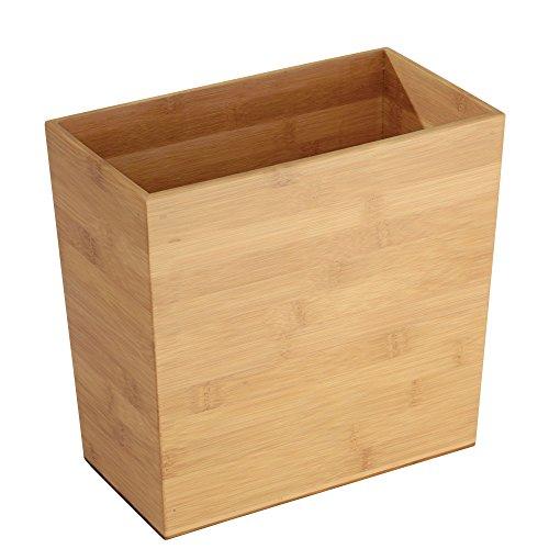 """mDesign Mülleimer \""""Bambus\"""", rechteckig - ideal als Papierkorb oder Abfalleimer - Robuster Kunststoff - Für Küche, Bad und Büro - modernes Design und hochwertige Materialien"""
