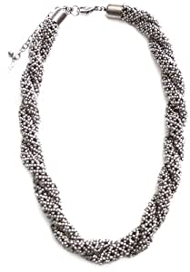 Marc Labat - 13H50 - Gypsy - Collier Femme - Tressé - Métal argenté - 47 cm