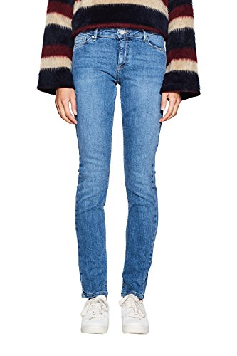 ESPRIT Damen Slim Jeans 997EE1B814, Blau (Blue Light Wash 903), W26/L30