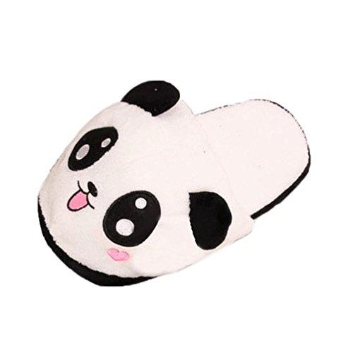 Hausschuhe Damen Btruely Winter Pantoffeln Wärme Weiche Hausschuhe Kuschelige Home Rutschfeste Slippers mit Hausschuhe Winter Panda Plüsch Hausschuhe (A)