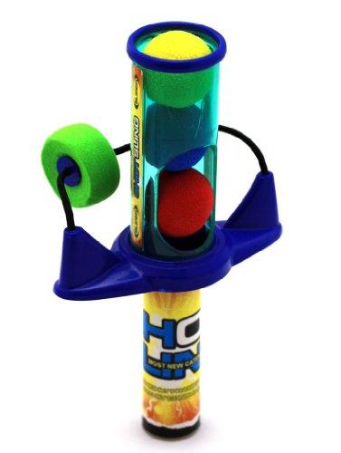 Kunststoff-Ballschleuder mit 3 Bällen Spielzeug Shot Sling - NEW