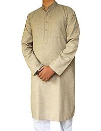 Mélange De Laine De Coton Mens Kurta Pajama Indienne Vêtements