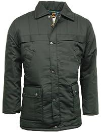 Mens Classic Padded Parka Car Coat Jacket