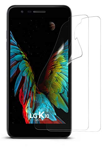 moex 2X LG K10 (2018) | Schutzfolie Klar Bildschirm Schutz [Crystal-Clear] Screen Protector Display Handy-Folie Dünn Bildschirmschutz-Folie für LG K10 (2018) Bildschirmfolie