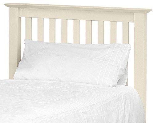Happy Beds Barcelona Wooden Headboard Solid Pine Stone White Finish Bedroom 5' King Size