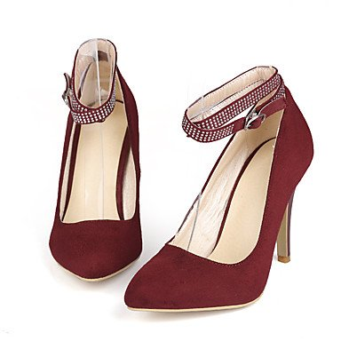 LFNLYX Women's Heels Spring Summer Fall Winter Other Leatherette Office & Career Party & Evening Dress Stiletto Heel Buckle Black Brown Burgundy Black