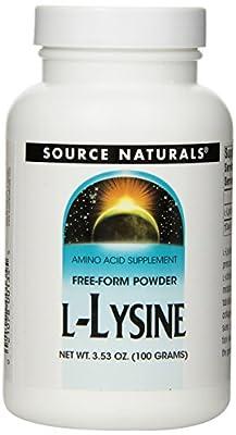 Source Naturals L-Lysine (1000mg) Powder 3.53 oz