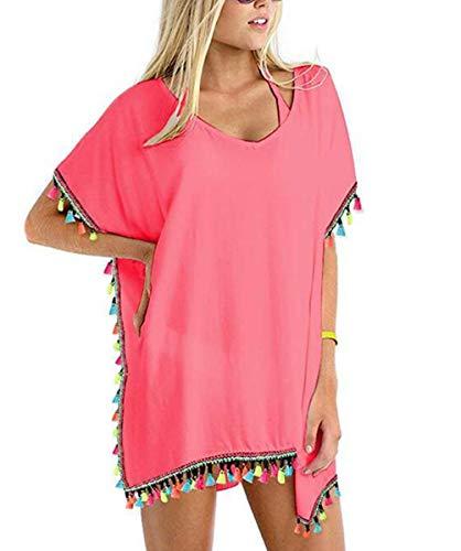 JFan Camisolas Mujer Pareos Playa Borla Colores Traje