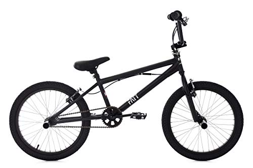 KS Cycling BMX Freestyle 20 Zoll Fatt Fahrrad, schwarz,