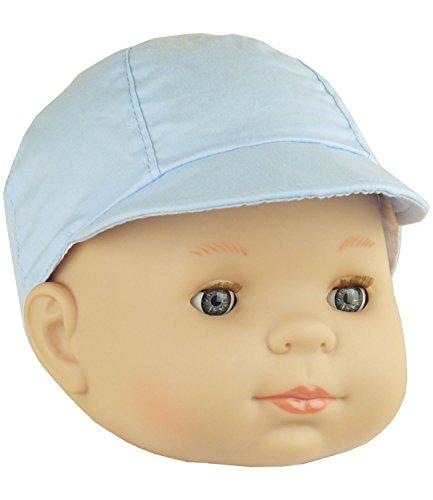 BabyPrem Bébé Casquette Chapeau Simple Seau Été Vêtements Garçon Bambin Bleu 0-3 Mois