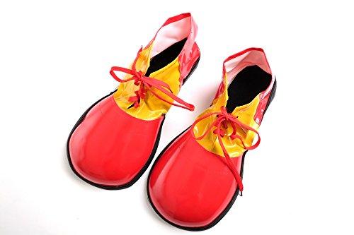 WIG ME UP - Kostüm Karneval Zirkus Clown Clownschuhe übergroße Schuhe rot (Schwarze Clown Schuhe)