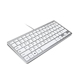 trixes keyboard mini wired usb key board slim silver white computers accessories. Black Bedroom Furniture Sets. Home Design Ideas