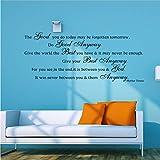 Fqz93in Textkuns Twandaufkleber Geben Sie Der Welt Das Beste, was Sie Haben - Tun Sie Auf Jeden Fall Gutes - Mutter Teresa Wand Zitieren Inspirierende Vinyl Kunst Aufkleber 34