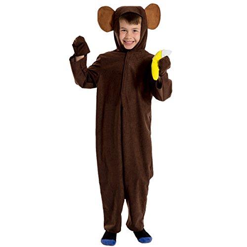 Kostüm Affe Dschungelbuch - Unbekannt Charlie Crow Affenkostüm / Schimpanse für Kinder 7-9 Jahre.