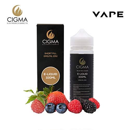Cigma 100ml Berry Mix E Liquid 0mg | Neue Abfüllflaschen | Erstklassiges Rezept nur mit hochwertigen Zutaten Für elektronische Zigarette und E-Shisha gemacht |E flüssig