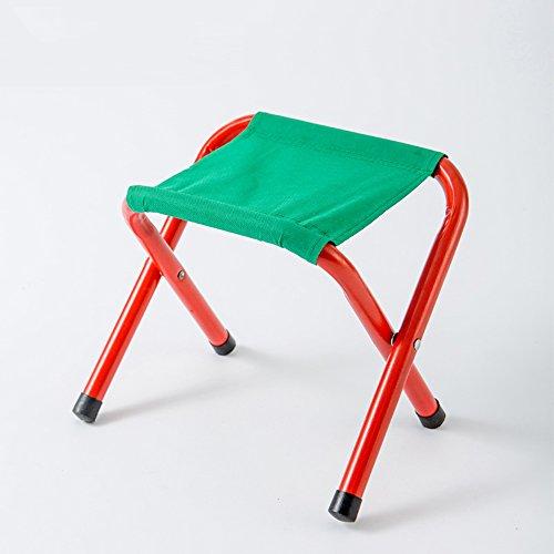 LJHA Klappstuhl Portable Metallhocker Angelstuhl Mazar Outdoor Zugbank 24 * 19 * 19cm Stühle (Größe : 3#) (Volle Größe-metall-stuhl)