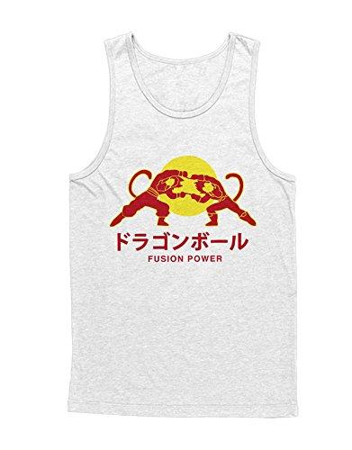 Tank-Top Vegeta Son Goku Fusion Power Red Bull Logo Dragon Ball Z GT Super Trunks Gohan C980009 Weiß ()