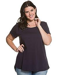 0dfe89844c4f6a Ulla Popken Damen Große Größen | T-Shirt | Basic | Weiter Rundhals, Kurzarm