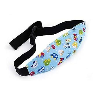 BAAQII Kids Travel Baby Car Seat Headrest Sleeping Head Rest Pillow Holder Belt Pad