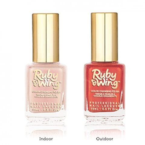 Ruby Wing Color Changing Solar Activating Scented Nail Polish Lily blossom to Orange by Ruby Wing