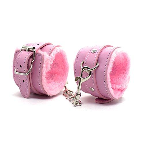 Summens Handschellen Fußschellen Betten-Fesseln Handcuffs Anklecuffs Plüsch Leder Sex Toy BDSM Sexspielzeug Erotik Betten Fesseln für...