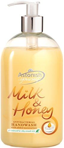 Fórmula única y vaso de leche de baño dispensador de jabón se puede lavar a mano y laqueado en color miel 500 ml