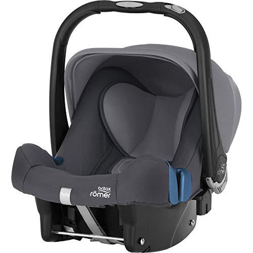 Britax Römer BABY-SAFE PLUS SHR II Autositz Babyschale Geburt, 13 kg,  Gruppe 0+, storm grey