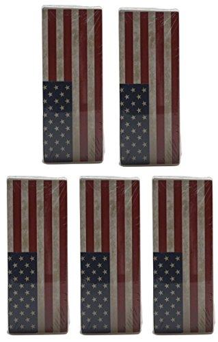 Gicos 57668 Humidificador de radiadores, cerámica, diseño de Bandera de EE. UU. (5 Unidades)