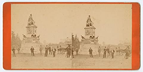POSTER Lincoln Monument View Fairmount Park Philadelphia ca 1871 monument statue seated Abraham
